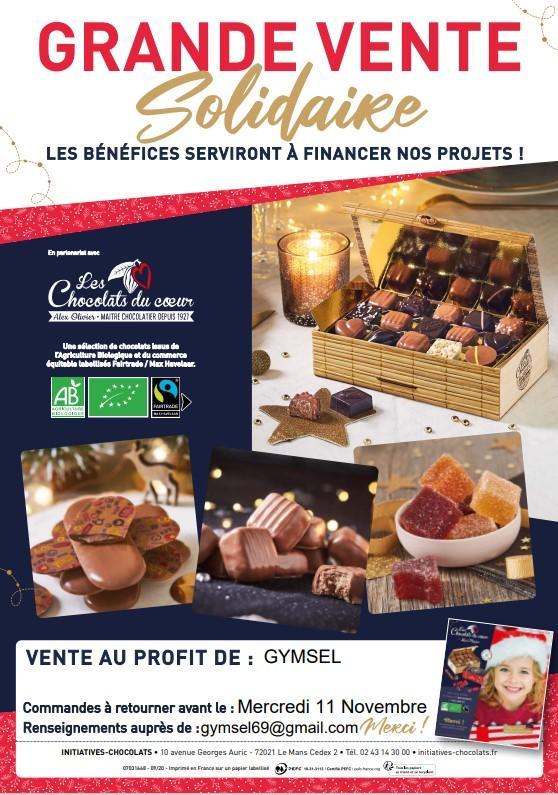 Affiche chocolats noel 2020